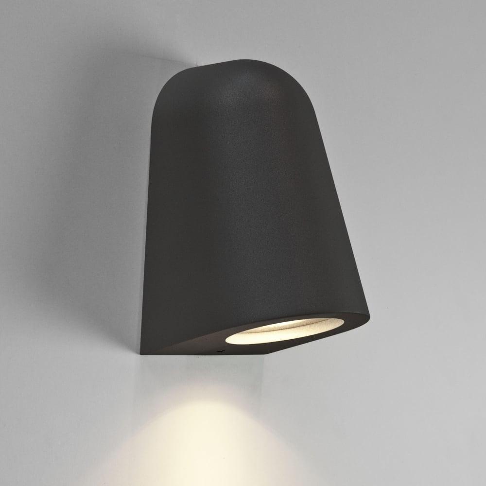 Mast Ip65 Black Exterior Wall Light