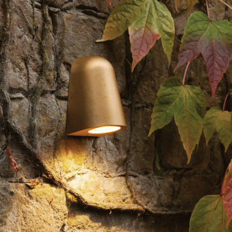Mast IP65 Exterior Wall Light in Antique Brass