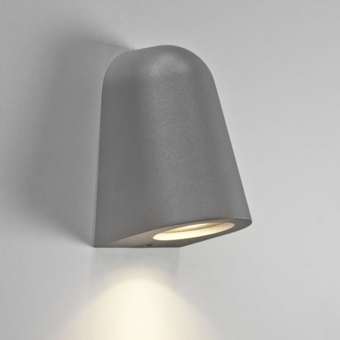 Ip65 External Wall Lights : Astro Lighting 7144 Mast IP65 Silver Exterior Wall Light