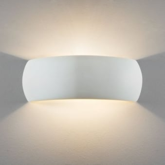 Milo 400 White Ceramic Wall Light