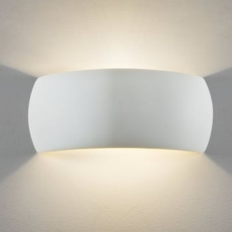 Milo Ceramic Wall Light in White