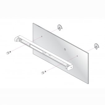 Mirror Adapter Kit 2 in Polished Chrome