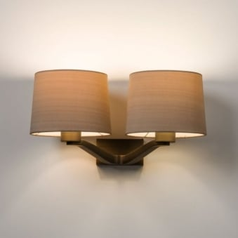 Montclair Twin Wall Light in Bronze