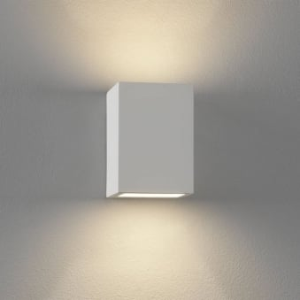 Mosto White Plaster Up and Down Wall Light
