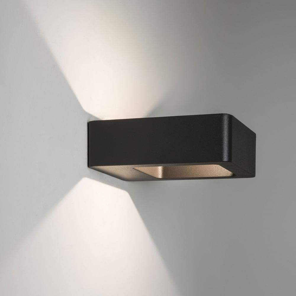 Napier LED Exterior Wall Light In Black