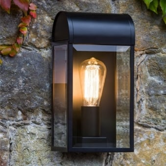 Newbury Exterior IP44 Wall Light in Black