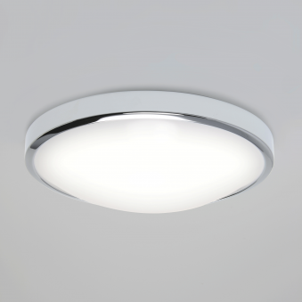 Osaka Sensor LED IP44 Chrome Bathroom Ceiling Light