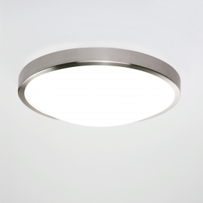 Osaka Sensor LED Matt Nickel Bathroom IP44 Ceiling Light