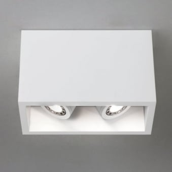 Osca 140 Twin Adjustable Square Surface Mounted Downlight
