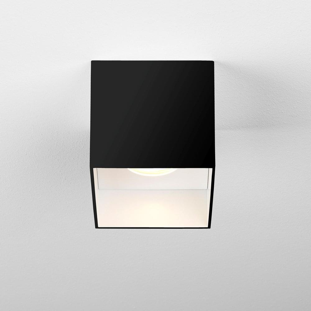 Osca square led surface mounted downlight in matt black