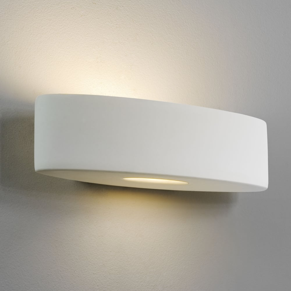Astro Ovaro White Ceramic Wall Light - Lounge And Hallway Lighting from Dusk Lighting UK