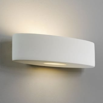 Ovaro White Ceramic Wall Light