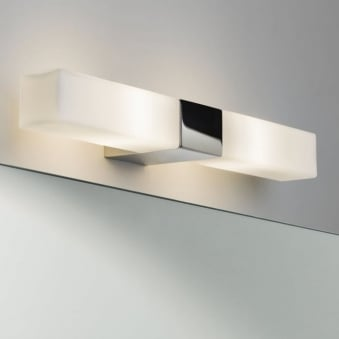 Padova Square Bathroom Mirror Wall Light in Polished Chrome