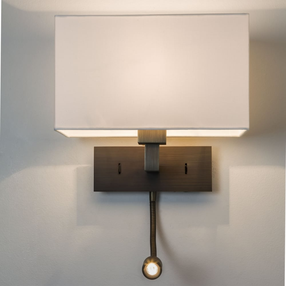 astro lighting 0540 park lane grande bronze led wall reading light. Black Bedroom Furniture Sets. Home Design Ideas