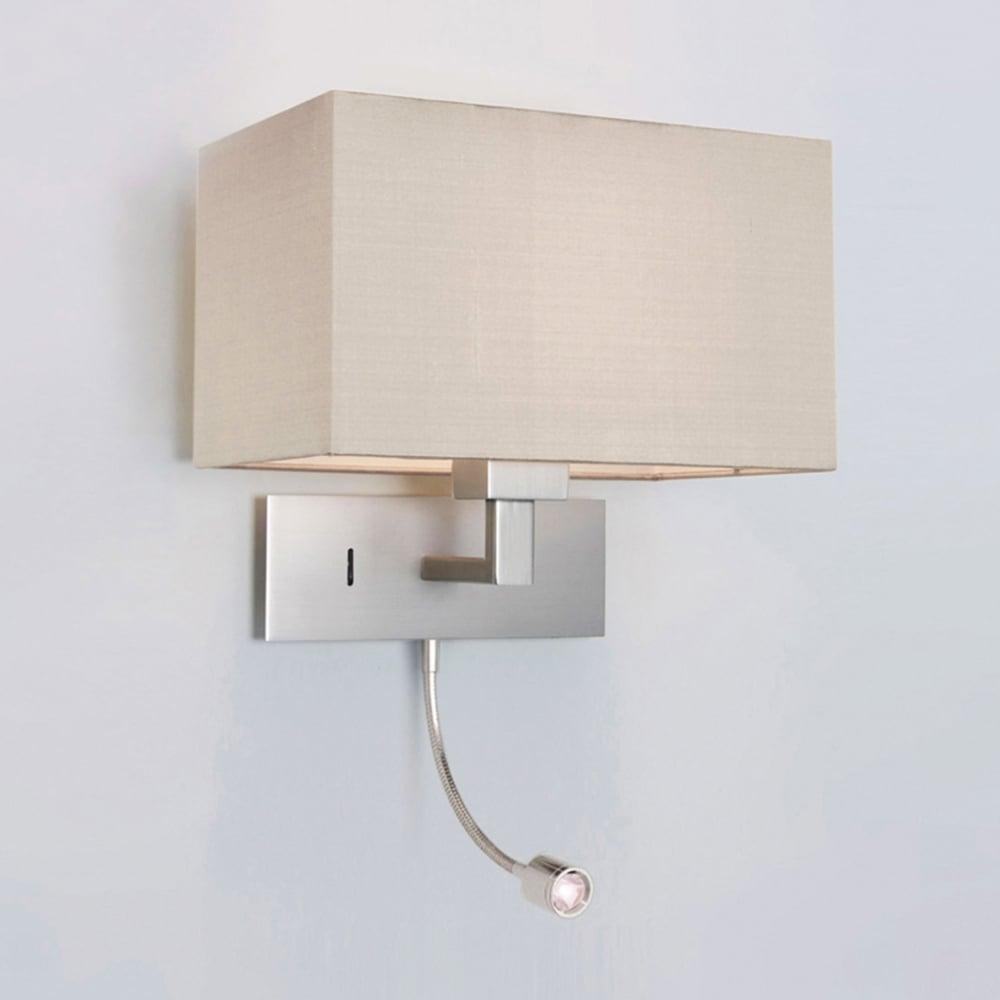 Astro Lighting 0679 Park Lane Grande LED Reading Wall Light in Brushed Nickel