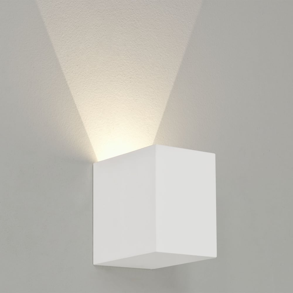 Indoor Wall String Lights : Astro Lighting 7019 Parma 100 LED Square White Plaster Wall Light