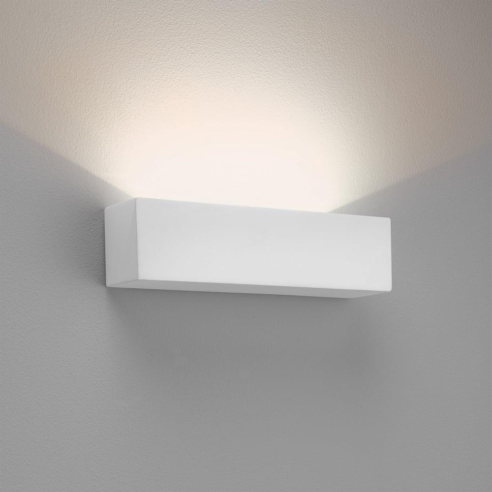 Led Wall Lights Plaster: Astro Lighting 7599 Parma 250 LED Wall Light 2700K White