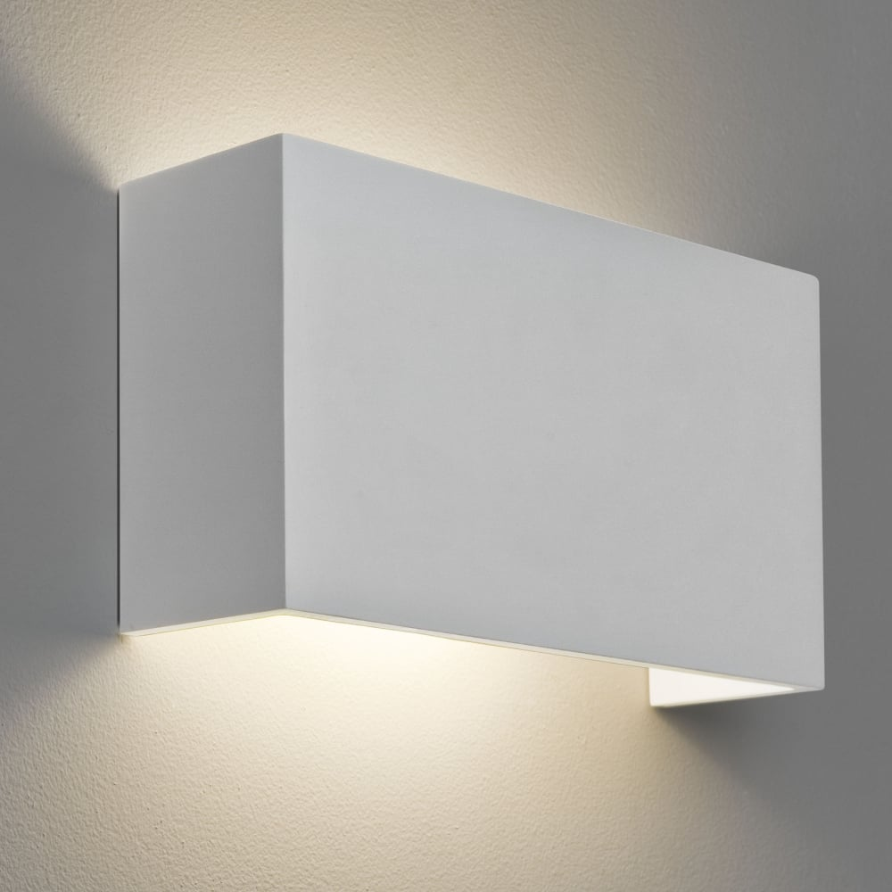 Wall Lights In White : Astro Lighting 7140 Pella 325 White Plaster Wall Light