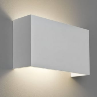 Pella 325 White Plaster Wall Light