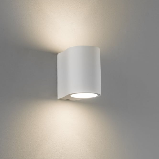 Astro Pero White Up and Down Plaster Wall Light