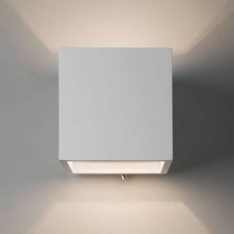 Pienza 140 Switched Plaster Wall Light