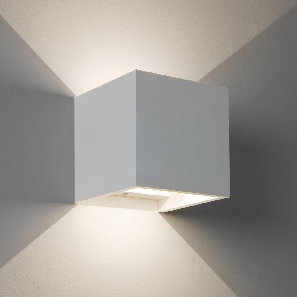 Led Wall Lights Plaster: Astro Lighting 7607 Pienza LED 2700K White Plaster Wall Light