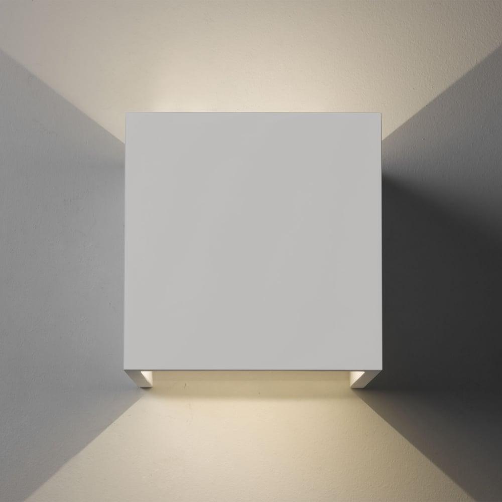 Astro lighting 7152 pienza led 3000k white plaster cube wall light pienza led 3000k white plaster cube wall light aloadofball Image collections