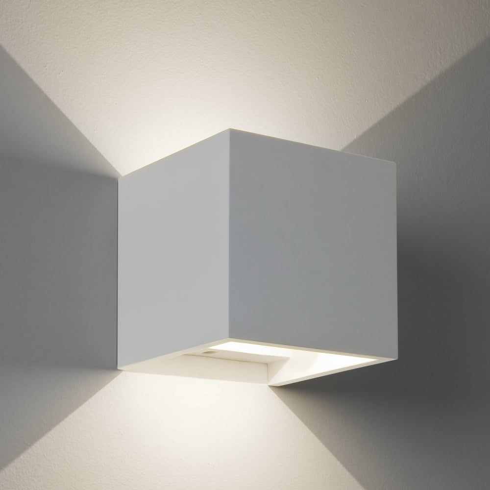Astro lighting 7152 pienza led 3000k white plaster cube wall light pienza led 3000k white plaster cube wall light aloadofball Image collections