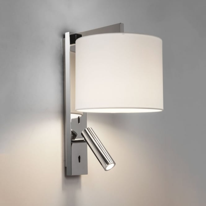Astro Ravello LED Reader Dual Wall Light in Polished Chrome