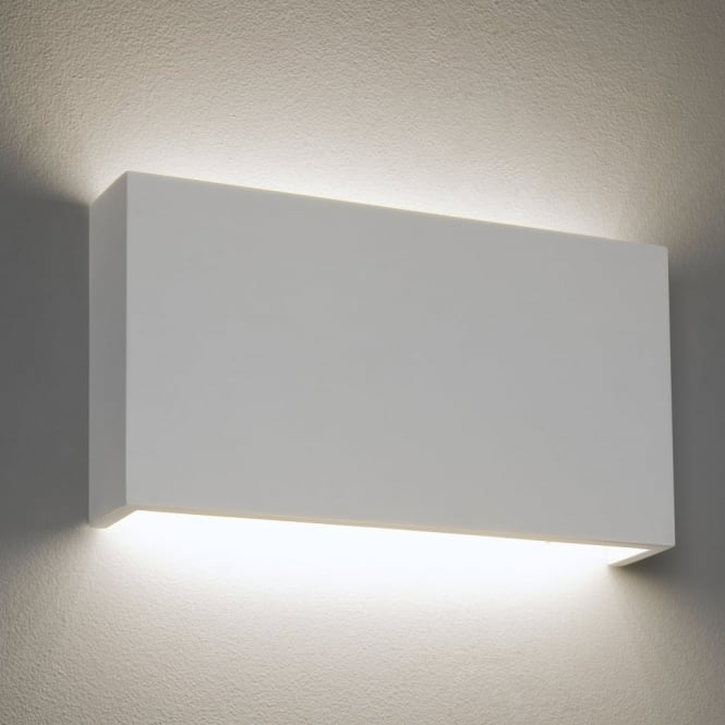 Astro Rio LED 325 Dimmable Rectangular Plaster Wall Light