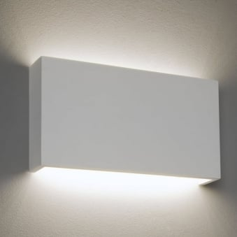 Rio LED 325 Dimmable Rectangular Plaster Wall Light