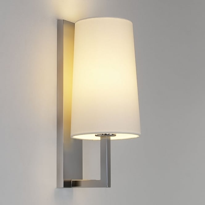 Astro Riva 350 IP44 Bathroom Wall Light in Matt Nickel