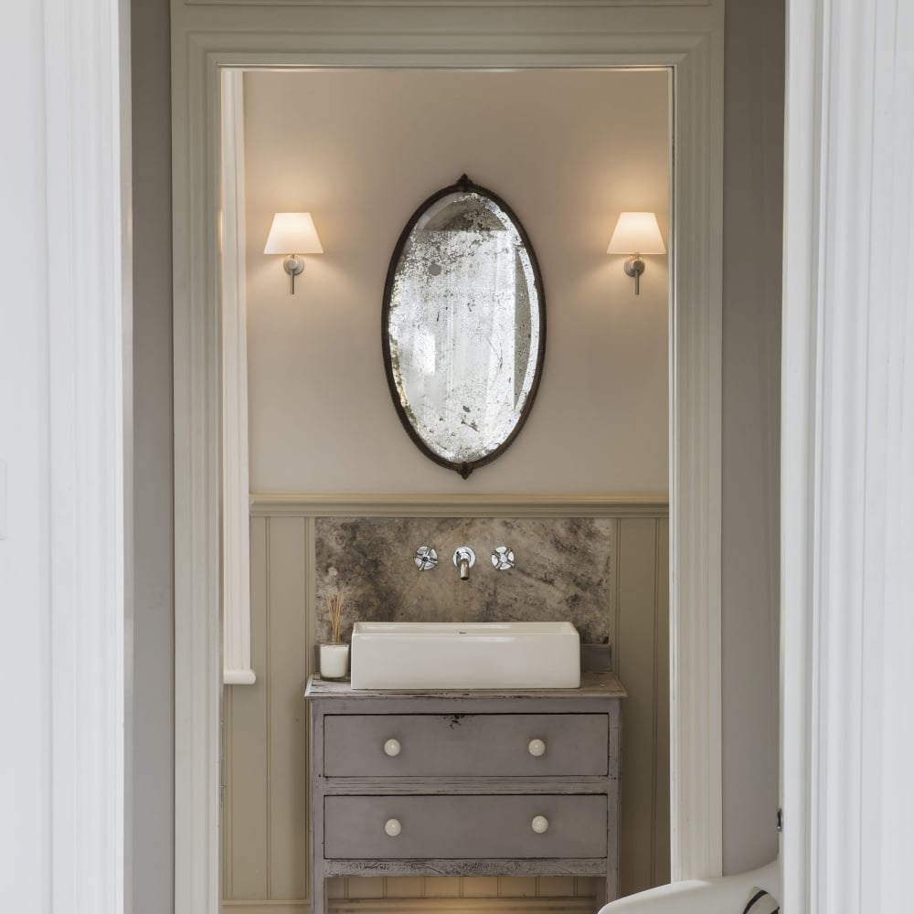 Roma IP44 Bathroom Wall Light In Matt Nickel