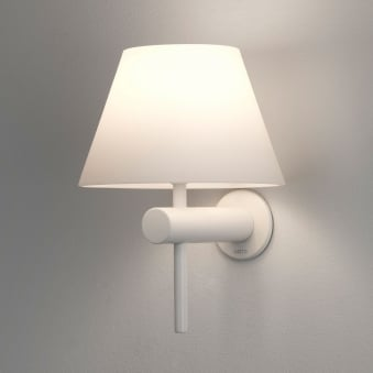 Roma IP44 Bathroom Wall Light in Matt White