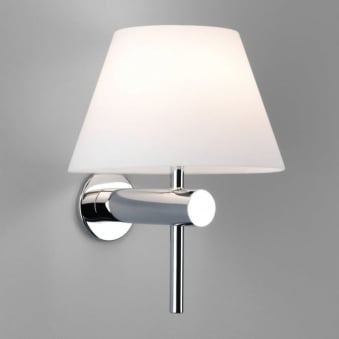 Roma IP44 Bathroom Wall Light Polished Chrome
