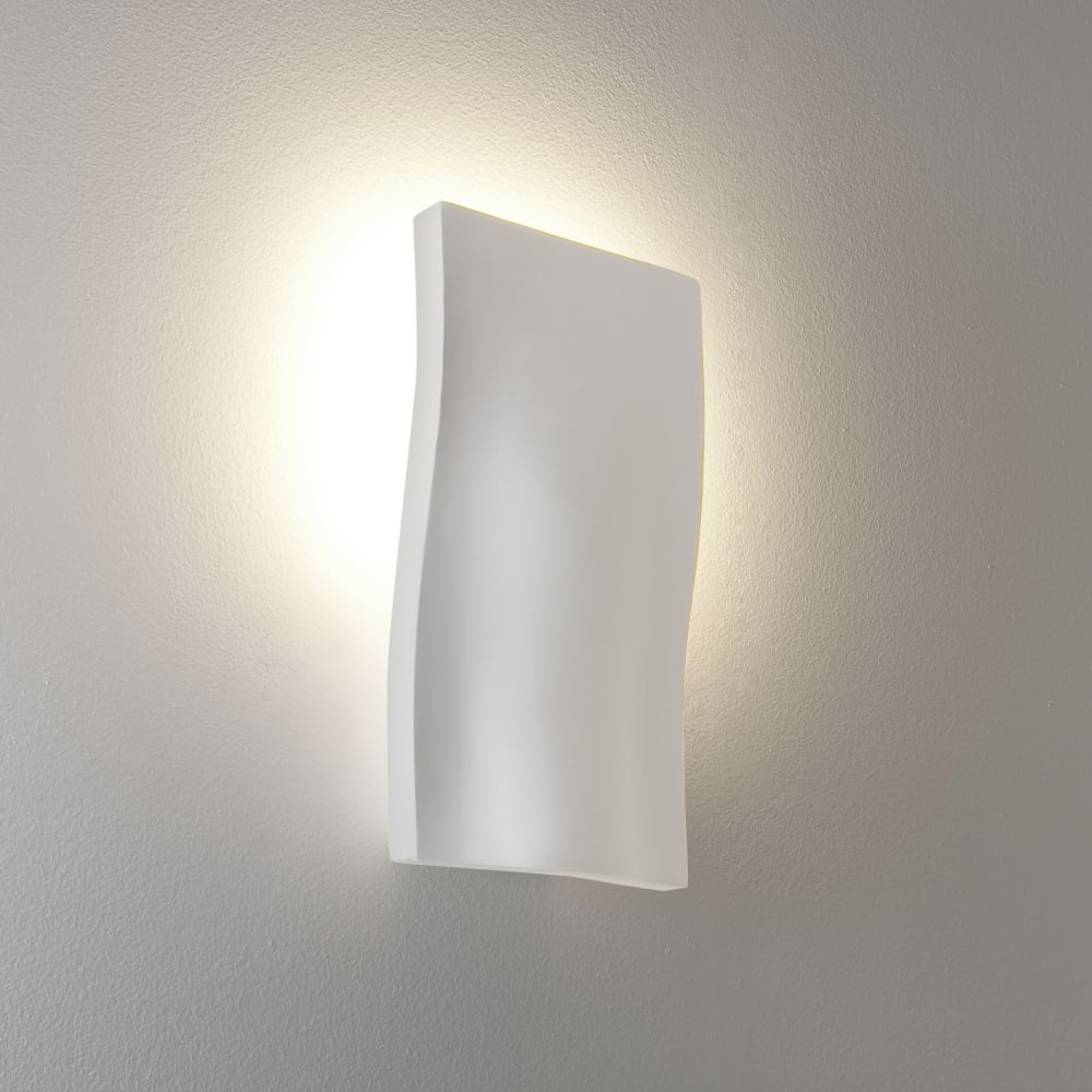 Wall Lights In White : Astro Lighting 0978 S-Light White Plaster Wall Light