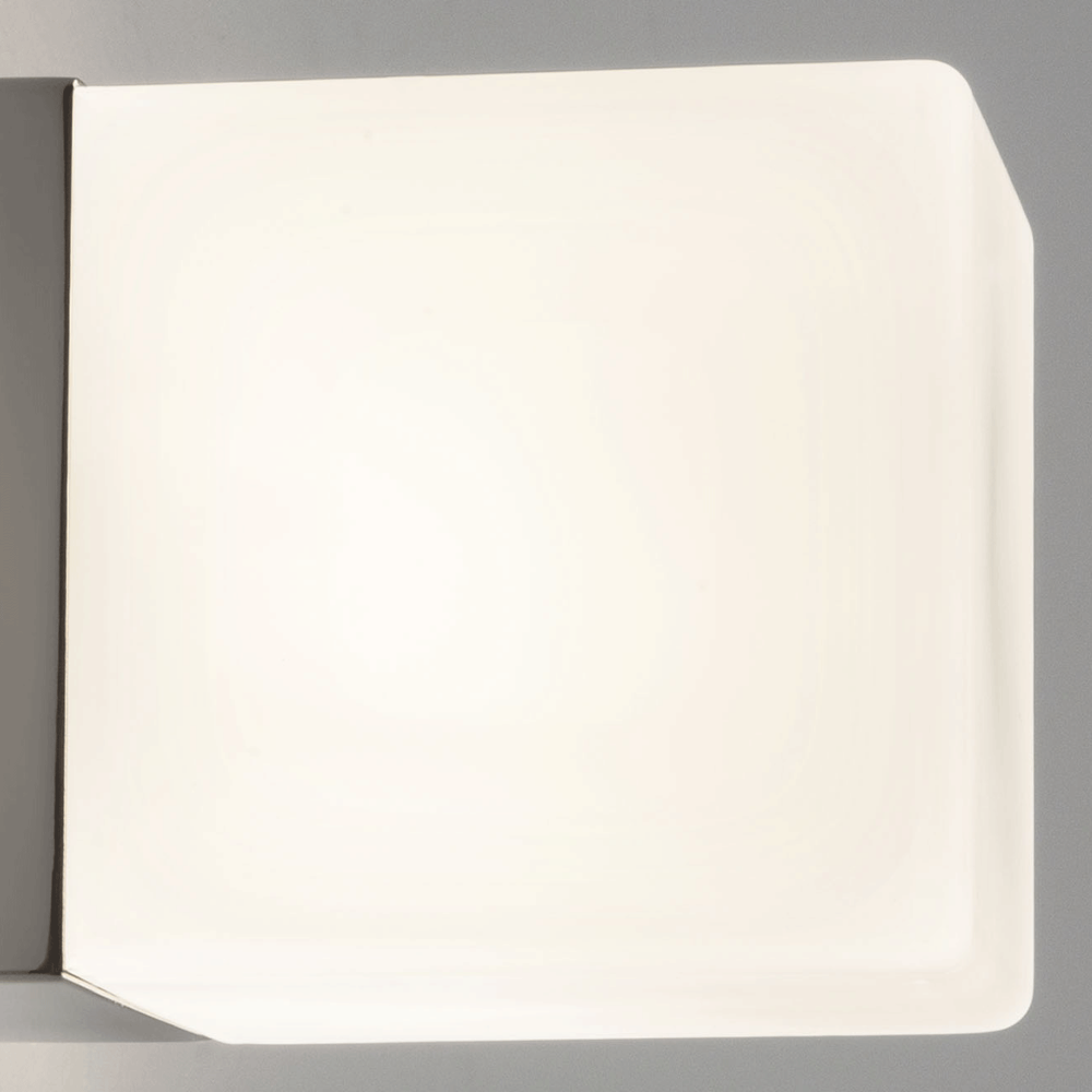 Replacement Glass Shade For Wall Lights : Astro Lighting 1043 Cube Wall Light Sand Blasted Glass Shade