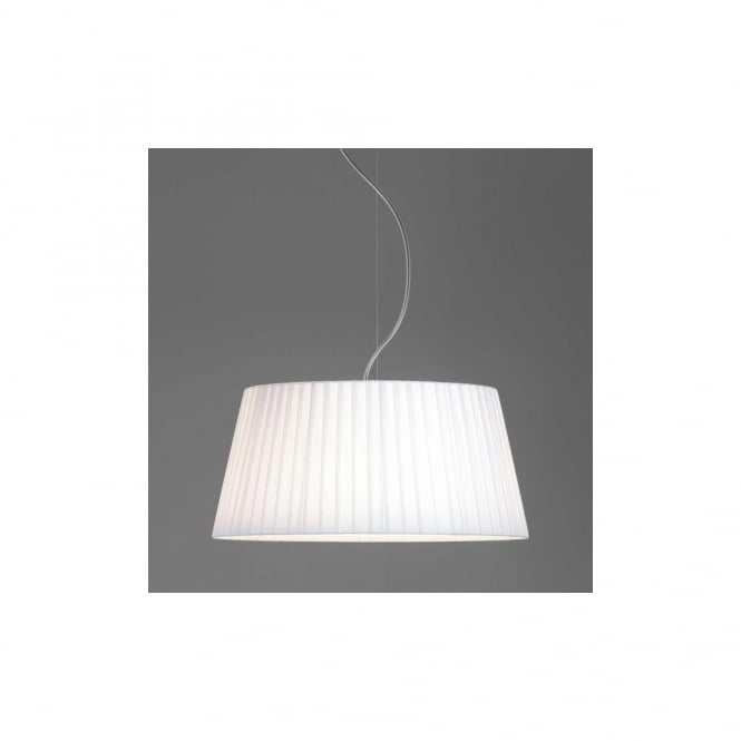 Astro Tag 500 Pleated Tapered Fabric Pendant Shade in White