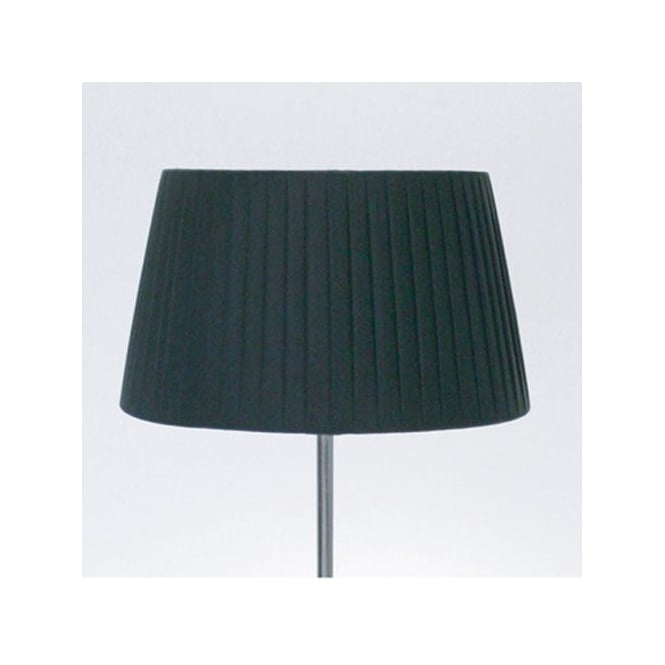Astro Tag Table Fabric Shade Round Black Pleated