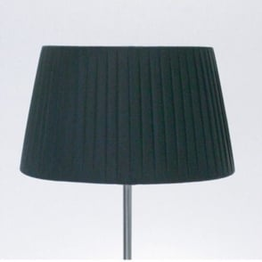 Tag Table Fabric Shade Round Black Pleated