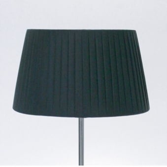 Tag Table Shade Round Black Pleated