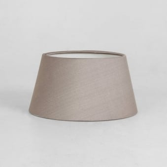 Tapered Drum 95 Fabric Shade Round in Oyster