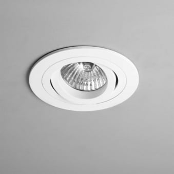 Taro GU10 Round White Adjustable Fire Rated Recessed Downlight
