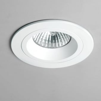 Taro GU10 Round White Fixed Fire Rated Recessed Downlight