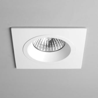 Taro GU10 Square White Fixed Fire Rated Recessed Downlight