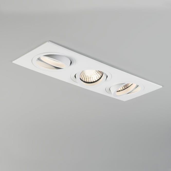 Astro Taro Triple GU10 Adjustable Downlight in White