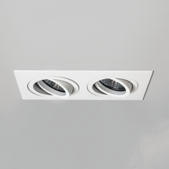 Taro Twin GU10 Adjustable Downlight in White