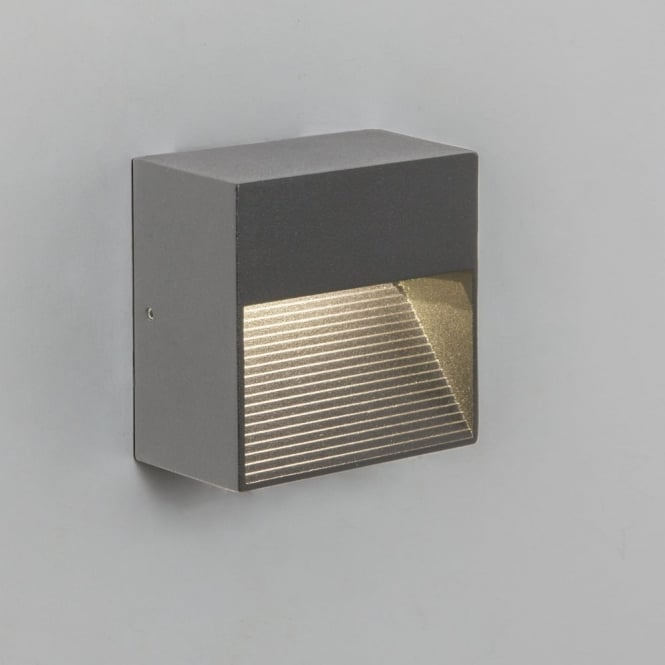 Astro Tecla Surface LED IP54 External Wall Light Silver