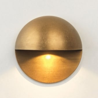 Tivoli LED Coastal Exterior Antique Brass Wall Light