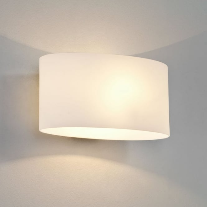 Astro Tokyo Classic White Glass Wall Light